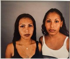 Two Sisters, Photo 1995, rare dye destruction print Photograph