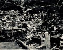 Large Scale Vintage Silver Gelatin Print Brazil Favela Cityscape Rio de Janeiro