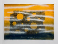 "Iain Baxter& ""Jumping Landscape"" Conceptual Monoprint Painting"
