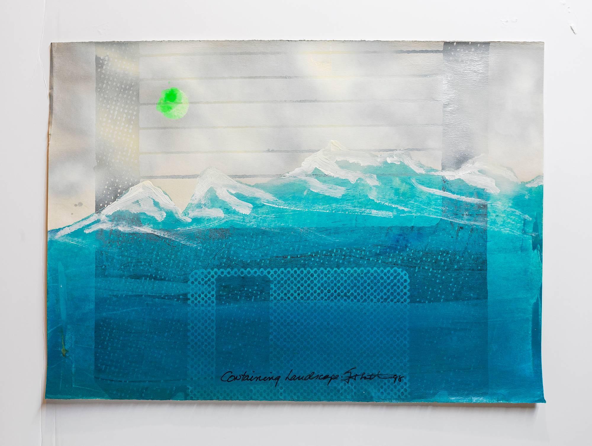 "Iain Baxter& ""Containing Landscape"" Conceptual Monoprint Painting"