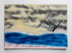 """Iain Baxter& """"Regurgitating Landscape"""" Conceptual Monoprint Painting"""