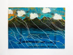 "Iain Baxter& ""Alpine Skiing Landscape"" Conceptual Monoprint Painting"