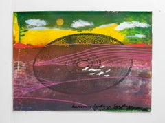 "Iain Baxter& ""Recovering Landscape"" Conceptual Monoprint Painting"