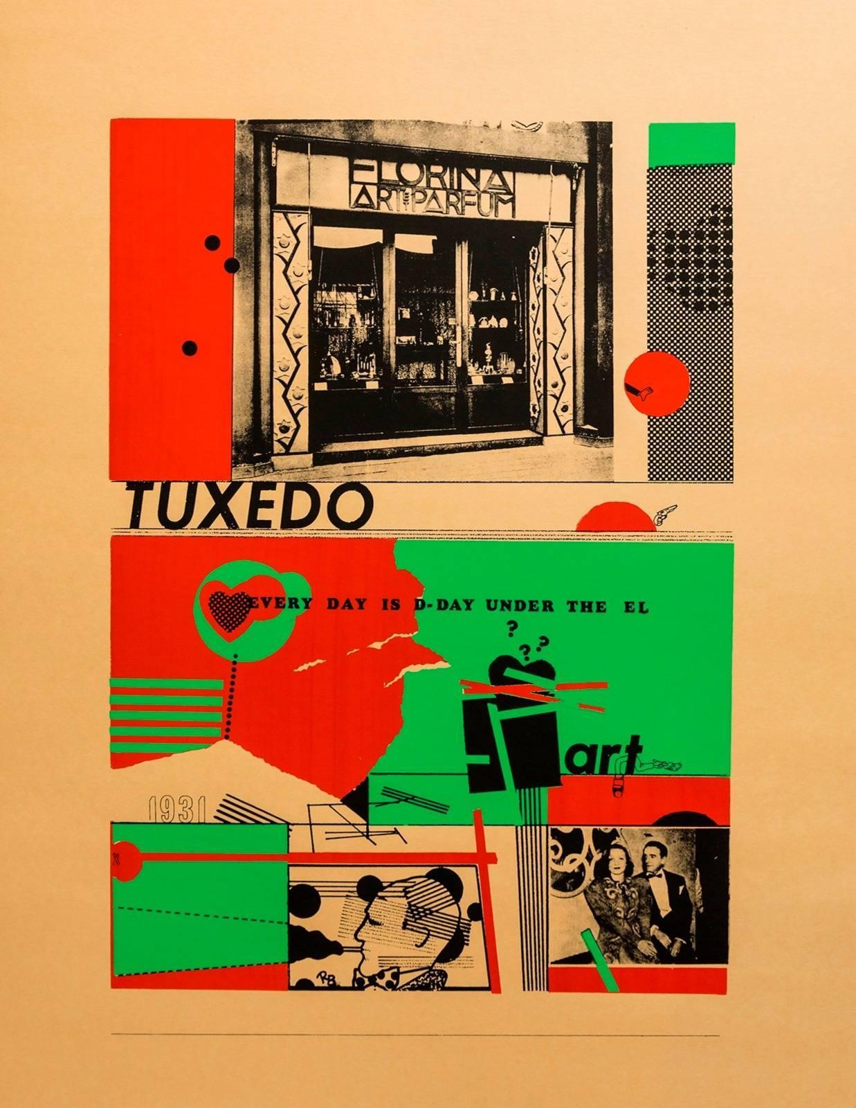Art and perfume Tuxedo Pop Art Color Screenprint Richard Merkin