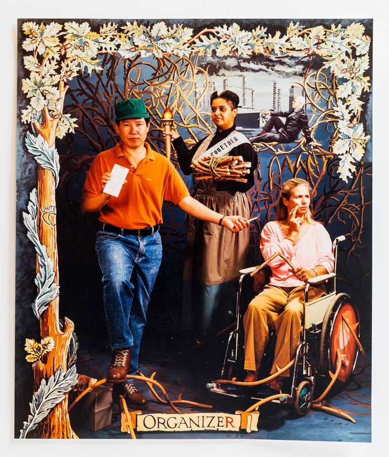 Referencing immigrants and the disabled. Social commentary conceptual artwork. Provenance: Deaccessioned from a New York University. Condé + Beveridge Carole Condé and Karl Beveridge Condé born in Hamilton in 1940. Beveridge born in Ottawa in 1945.