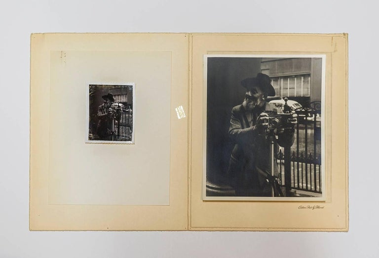 Rare Vintage Silver Gelatin and Polaroid Photograph Prints Ansel Adams Portrait For Sale 3