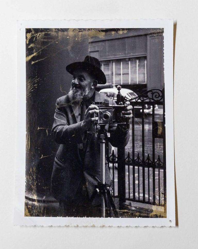 Rare Vintage Silver Gelatin and Polaroid Photograph Prints Ansel Adams Portrait For Sale 2