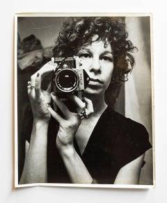 Vintage Silver Gelatin Rock and Roll Photogapher Nona Hatay Self Portrait