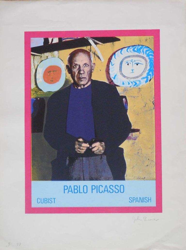 Vintage 1960s Pablo Picasso Photo Silkscreen Serigraph Pop Art For Sale 3