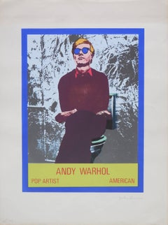 Vintage 1960s Andy Warhol Photo Silkscreen Serigraph Pop Art