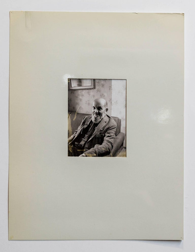 Rare Vintage Silver Gelatin and Polaroid Photograph Prints Ansel Adams Portrait For Sale 2