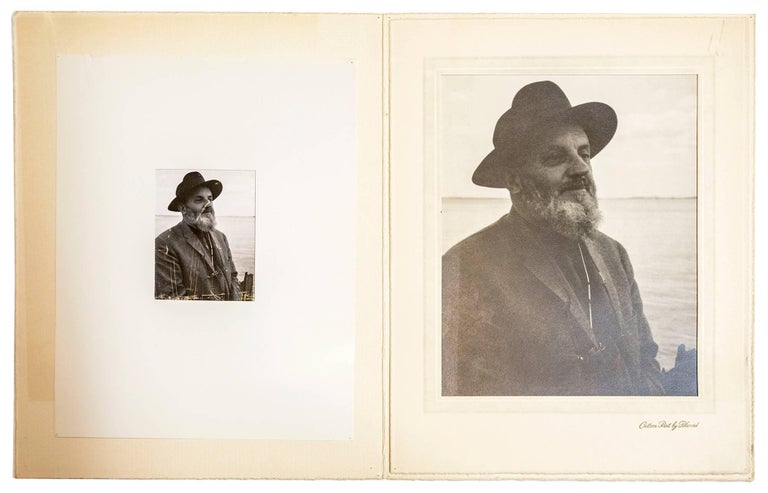 Rare Vintage Silver Gelatin and Polaroid Photograph Prints Ansel Adams Portrait For Sale 3