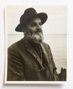 Rare Vintage Silver Gelatin and Polaroid Photograph Prints Ansel Adams Portrait