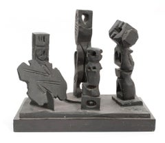 Brutalist Modernist Abstract Bronze Sculpture Totems Manner of Louise Nevelson