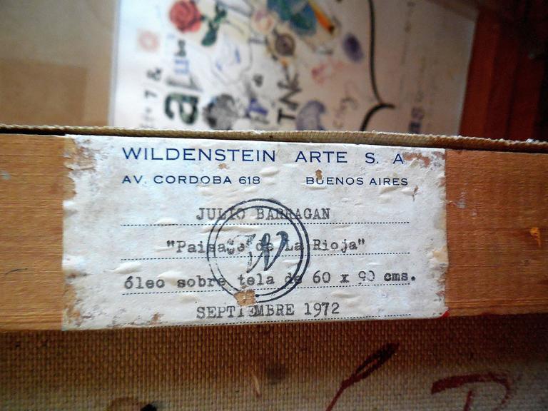 Paisaje de la Rioja Argentinian Modernist Concretist Cubist Oil Painting For Sale 1