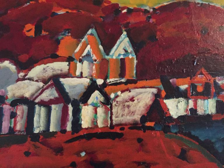 Paisaje de la Rioja Argentinian Modernist Concretist Cubist Oil Painting For Sale 2