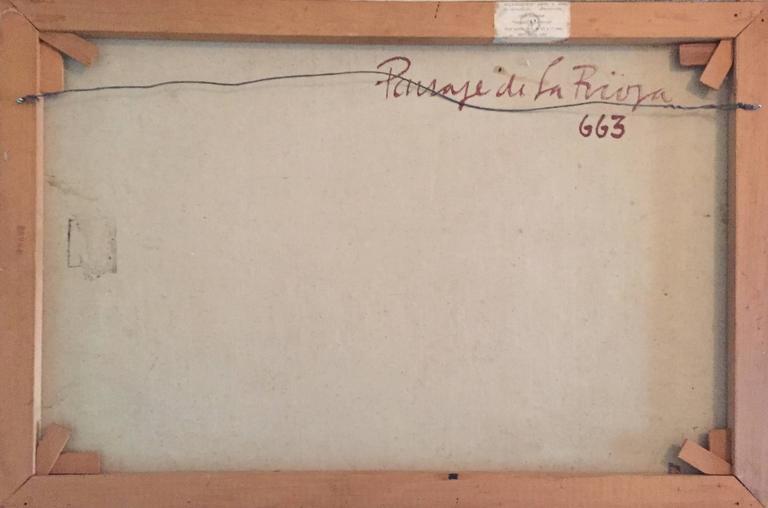 Paisaje de la Rioja Argentinian Modernist Concretist Cubist Oil Painting For Sale 3