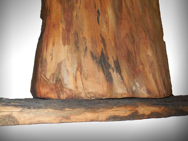 Holocaust Memorial Polish Sculpture Burnt Wood Metal Judaica Jewish Memorial Art For Sale 1