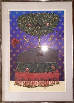 Surrealist Assemblage Collage Multiple Enrico Baj