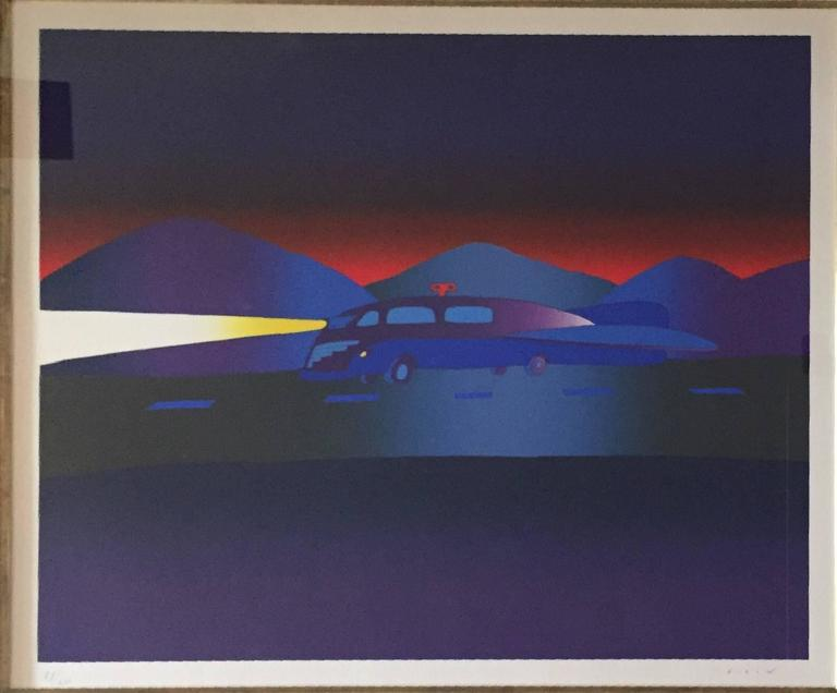 Train Silkscreen Hand Signed Belgian Modernist Folon 2