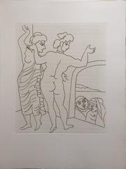 Erotic Etching from Le Satyricon
