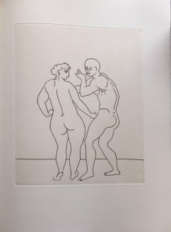 Erotic Male Nude - Etching from Le Satyricon