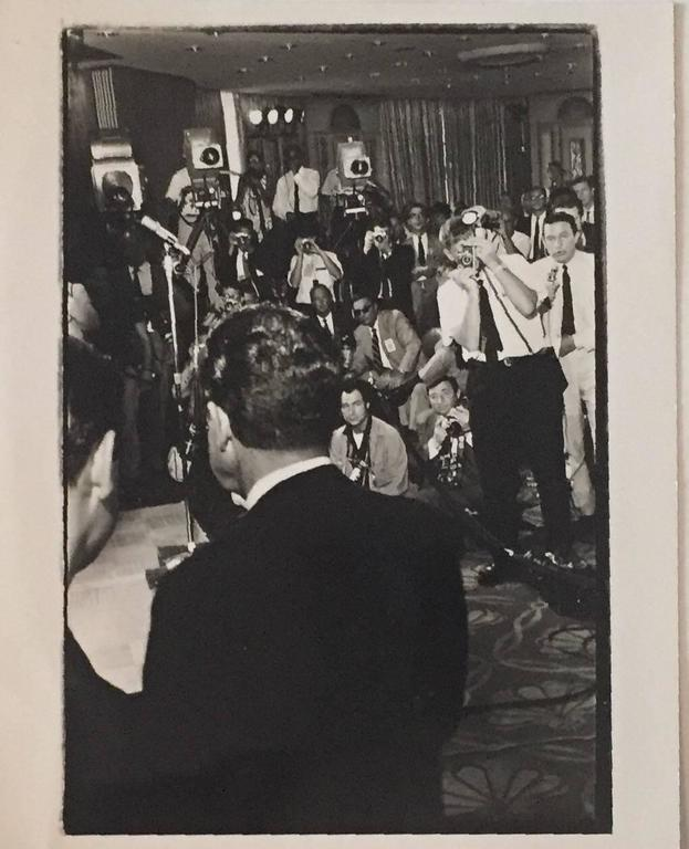 Fred McDarrah Black and White Photograph - Nixon Meets the Press, Republican Convention