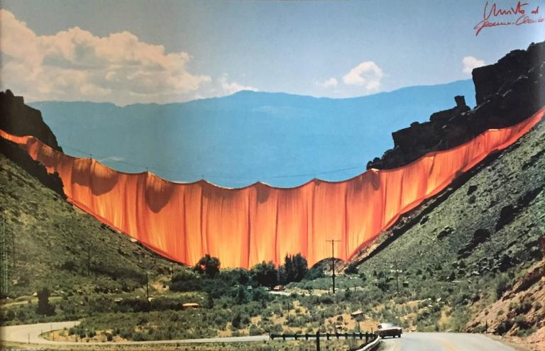 Javacheff Christo Valley Curtain Photograph For Sale