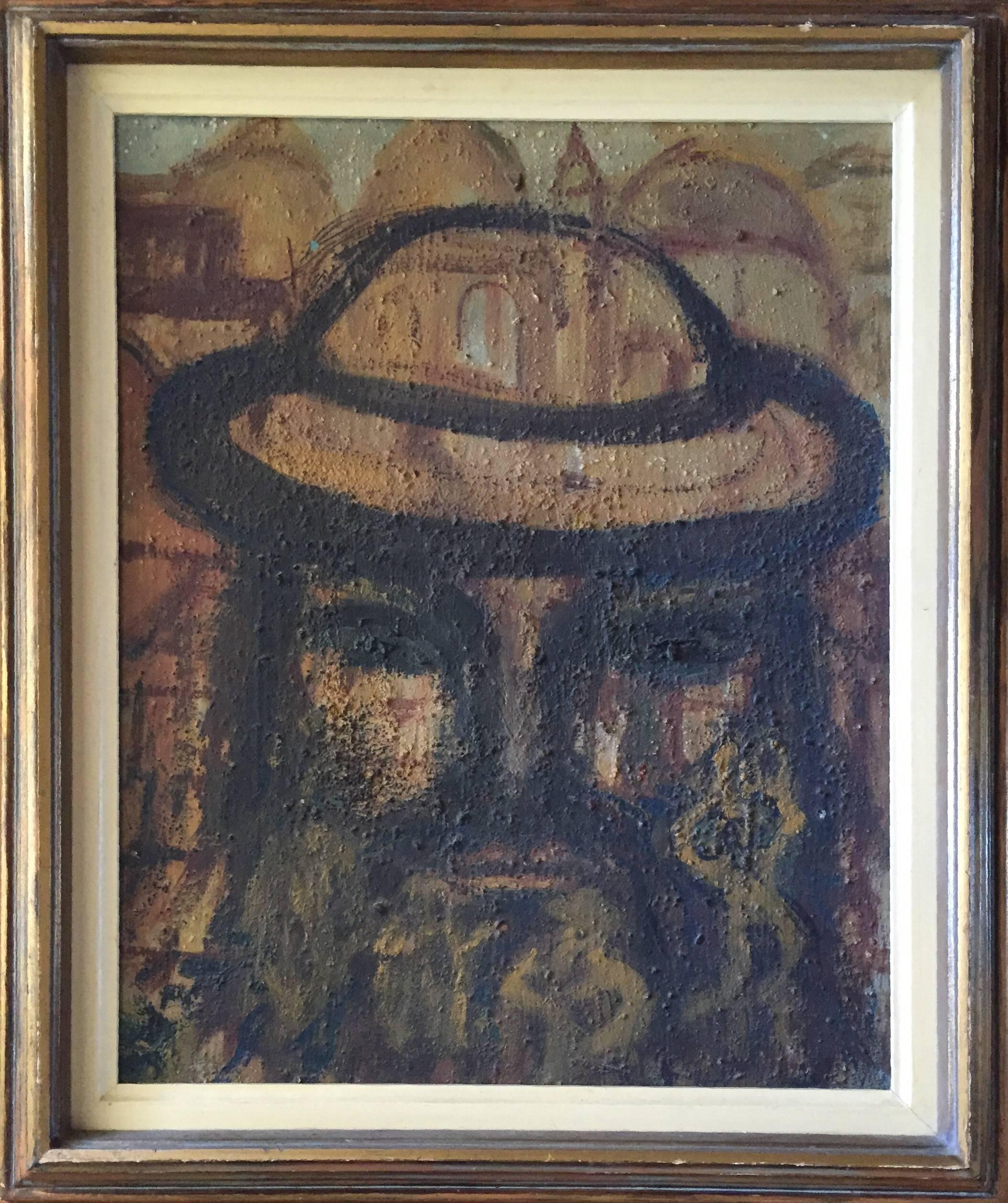 Rabbi in Old Jerusalem Painting