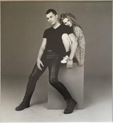 Vintage B&W Fine Art Fashion Photgraph of Kate Moss & Paul Rowland