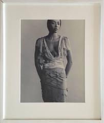 Naomi Campbell, Paul Rowland Vintage Portrait Silver Gelatin Print