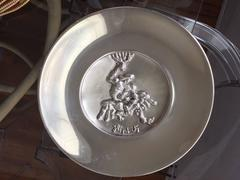 The Struggle, Rare Sterling Silver Wall Sculpture Plate