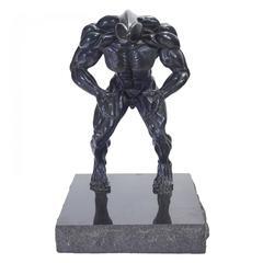 "Robert Longo - Rare ""Dickhead"" Robert Longo  Bronze Sculpture"