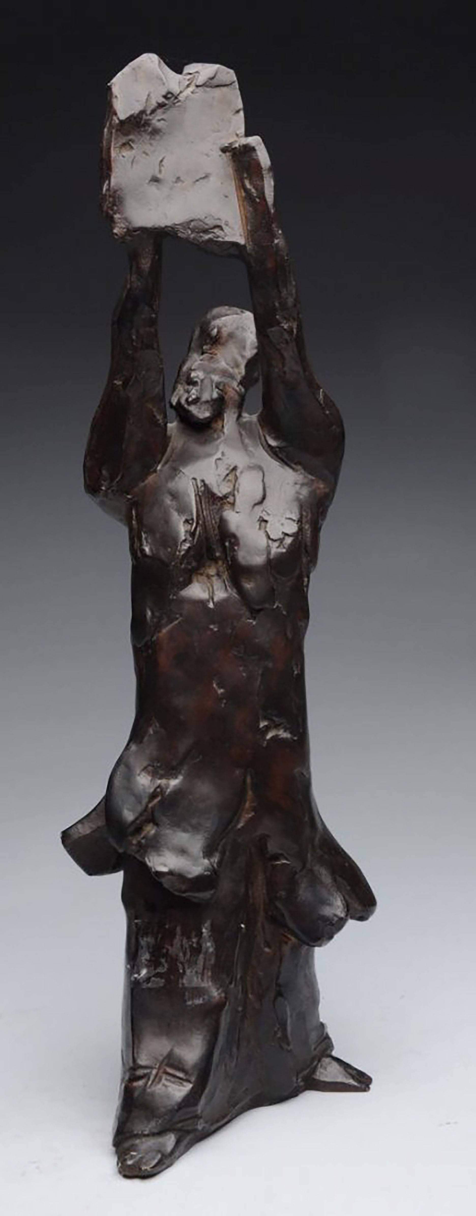 Large Bronze Sculpture Judaica Biblical Moses Figure American Boston Modernist