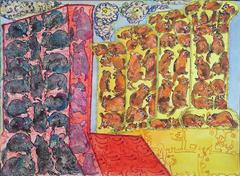 Outsider Art  Rats and Mice Pattern Painting