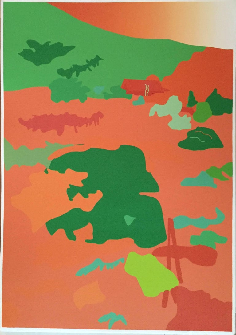 Tom Baldwin Abstract Print - Japanese Garden
