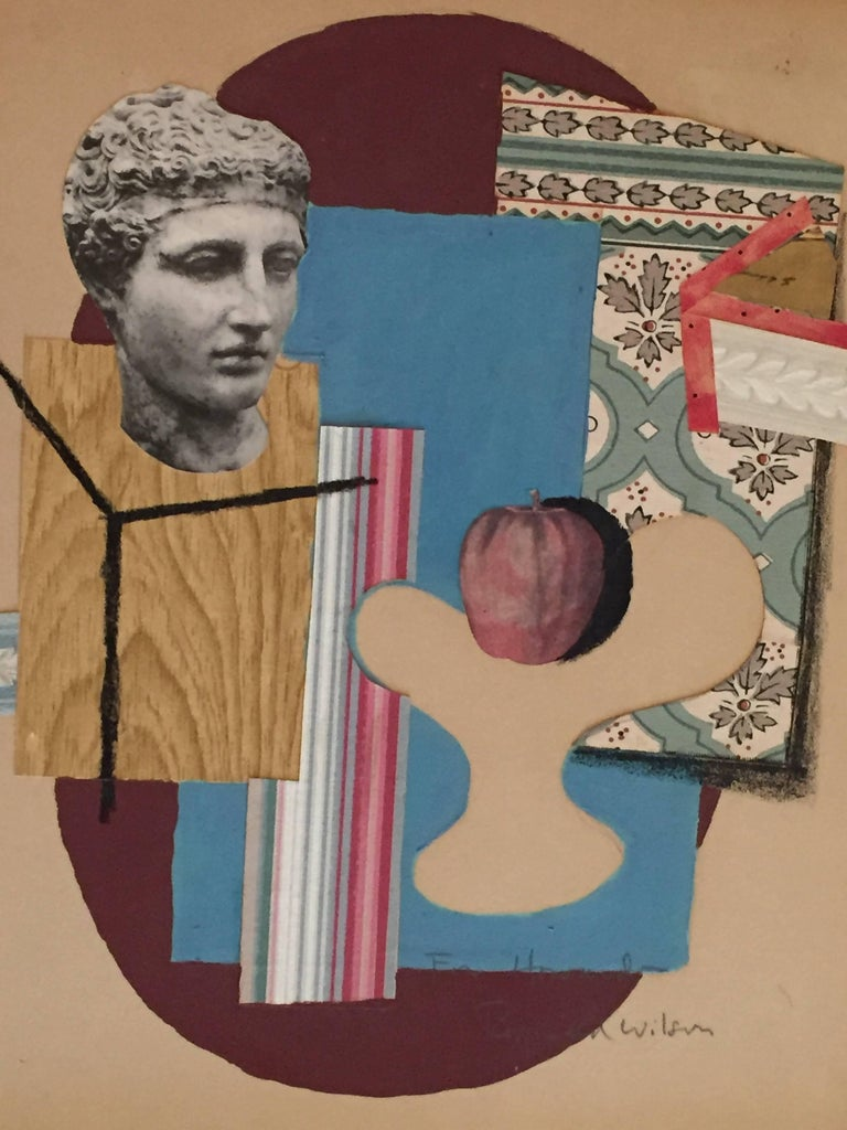 Reginald Wilson collage, 20th century, offered by Lions Gallery