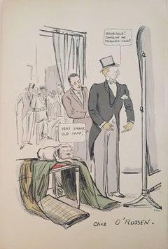 """Rare Vintage Art Deco """"White Bottoms""""  Lithograph Pochoir"""
