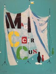 Rare Wolfgang Roth Dada Bauhaus Circus Silkscreen Print 2