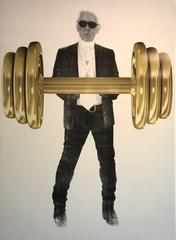 Karl with Gold Dumbbell