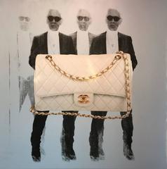 Karl with Chanel bag