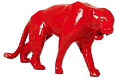Red Glossy Panther with aluminum eyes