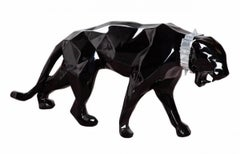 Black Glossy Panther with aluminum collar
