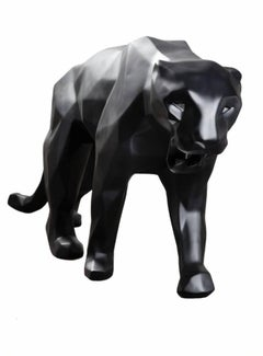 Black Panther with aluminum eyes