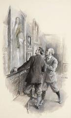 Gentlemen Admiring Art