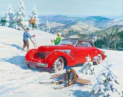 Pioneer American Skiers, 1937 Cord, Great Moments in Early American Motorin