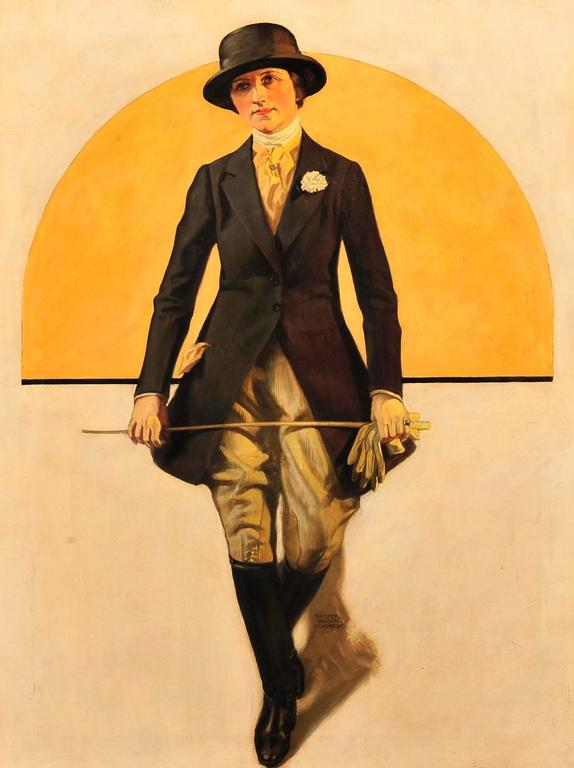 Woman in Equestrian Clothing