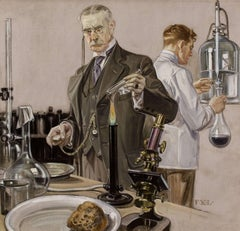 Timing an Experiment, Howard Watch Advertisement Illustration