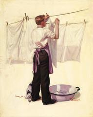 Hanging the Laundry, Liberty Magazine Cover