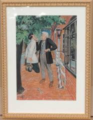 Two Men on the Street, SEP Illustration